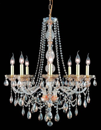 C121-7958D28GS-GS By Regency Lighting-Verona Collection Golden Shade Finish 8 Lights Chandelier