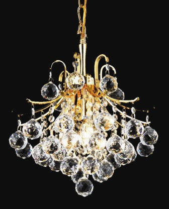 ZC121-V8000D12G By Regency Lighting-Toureg Collection Gold Finish 3 Lights Chandelier