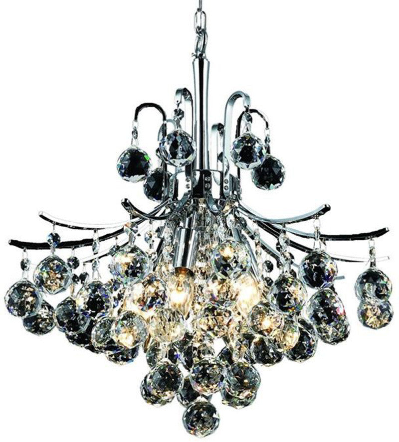 ZC121-V8000D16C/EC By Elegant Lighting - Toureg Collection Chrome Finish 6 Lights Dining Room