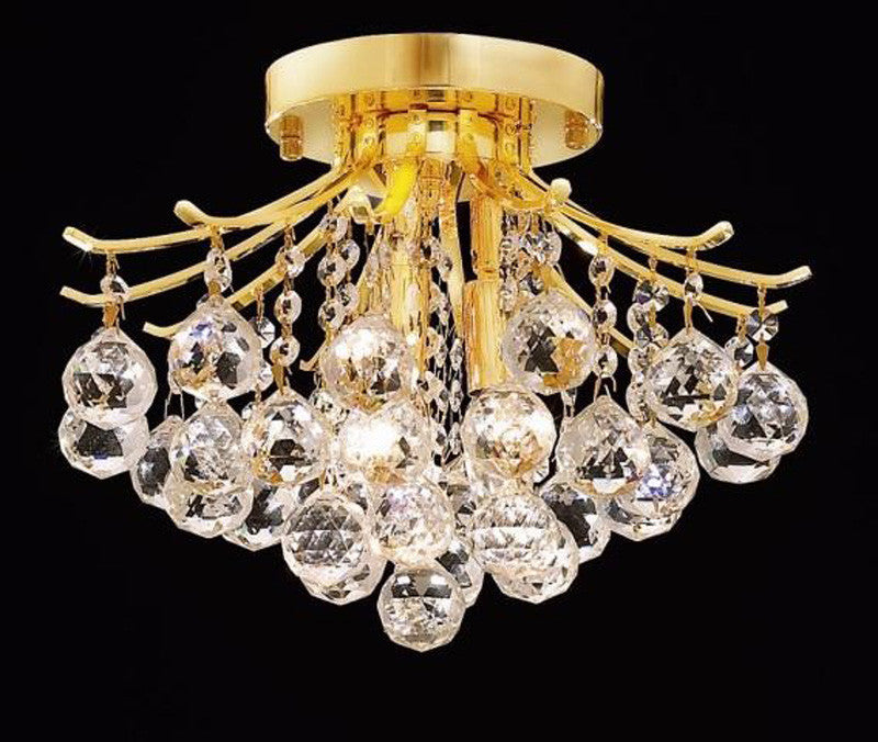ZC121-V8000F12G/EC By Elegant Lighting - Toureg Collection Gold Finish 3 Lights Flush Mount