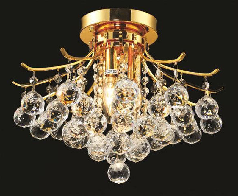 ZC121-V8000F16G/EC By Elegant Lighting - Toureg Collection Gold Finish 3 Lights Flush Mount