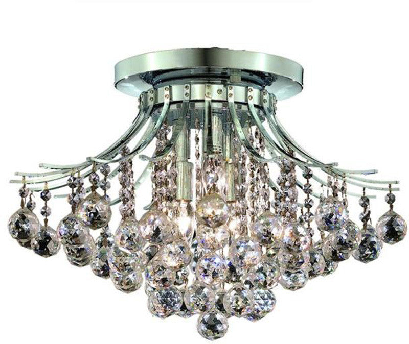 ZC121-V8000F19C/EC By Elegant Lighting - Toureg Collection Chrome Finish 6 Lights Flush Mount