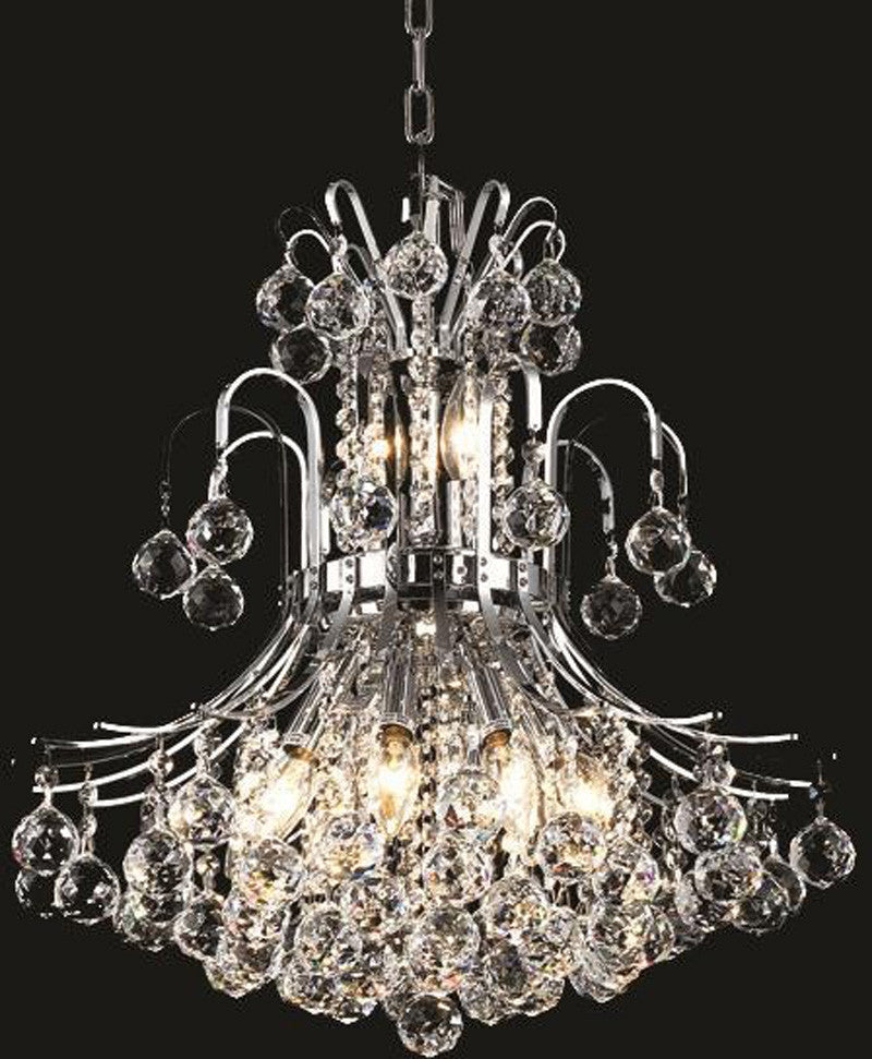 ZC121-V8001D19C/EC By Elegant Lighting - Toureg Collection Chrome Finish 10 Lights Dining Room
