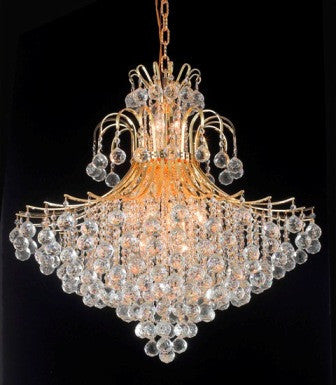 ZC121-V8005G31G By Regency Lighting-Toureg Collection Gold Finish 14 Lights Chandelier