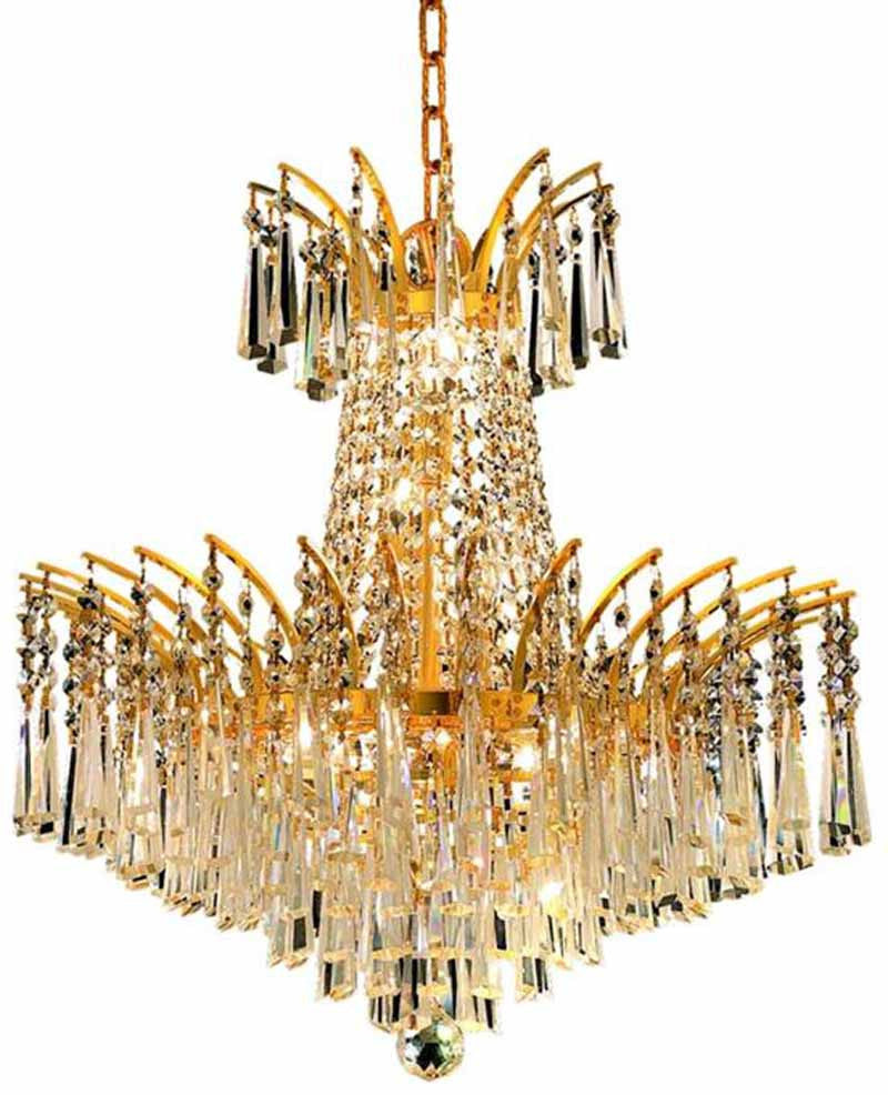 ZC121-8032D19G/EC By Regency Lighting - Victoria Collection Gold Finish 8 Lights Dining Room