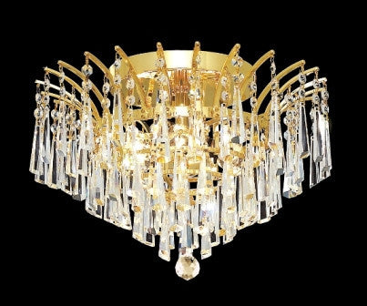 C121-8032F16G By Regency Lighting-Victoria Collection Gold Finish 6 Lights Chandelier