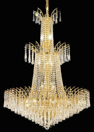 C121-8032G32G By Regency Lighting-Victoria Collection Gold Finish 18 Lights Chandelier
