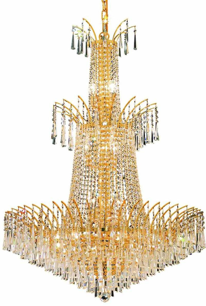ZC121-8032G32G/EC By Regency Lighting - Victoria Collection Gold Finish 18 Lights Foyer/Hallway
