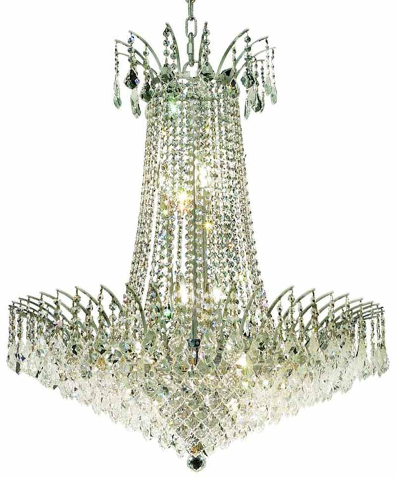 ZC121-8033D29C/EC By Regency Lighting - Victoria Collection Chrome Finish 16 Lights Dining Room