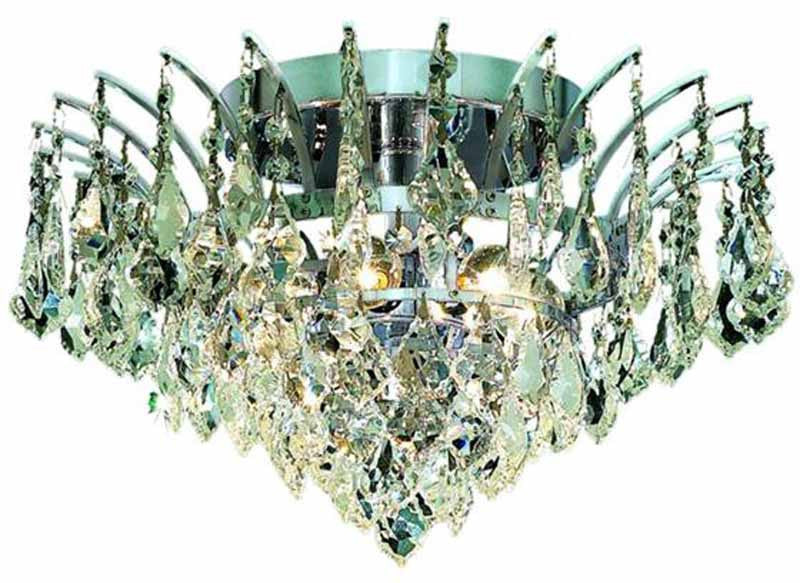 ZC121-8033F16C/EC By Regency Lighting - Victoria Collection Chrome Finish 6 Lights Flush Mount