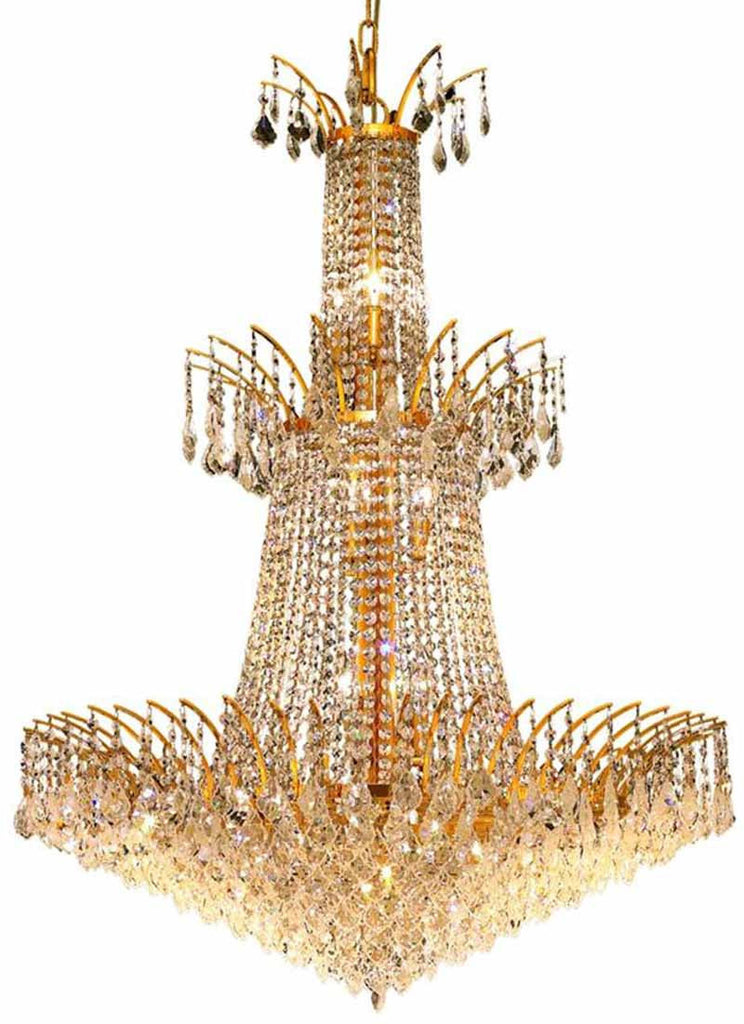 ZC121-8033G32G/EC By Regency Lighting - Victoria Collection Gold Finish 18 Lights Foyer/Hallway