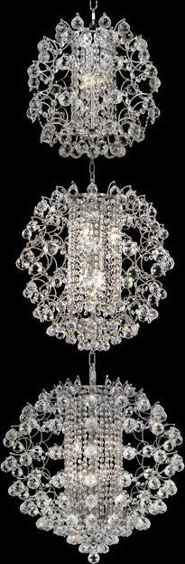 C121-8064G24C/RC By Elegant Lighting St. Ives Collection 21 Lights Chandelier Chrome Finish