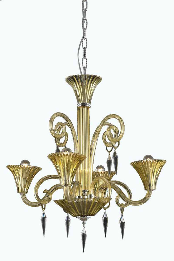 C121-8804D28YW/EC By Elegant Lighting - Symphony Collection 4 Lights Dining Room
