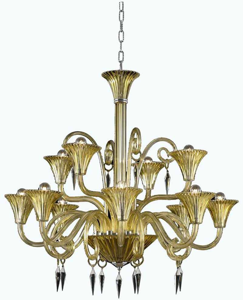 C121-8812D37YW/EC By Elegant Lighting - Symphony Collection 12 Lights Dining Room