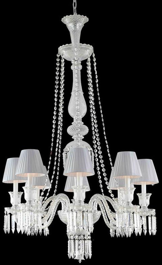 ZC121-8908D32C/EC+SH By Regency Lighting - Majestic Collection Chrome Finish 8 Lights Dining Room