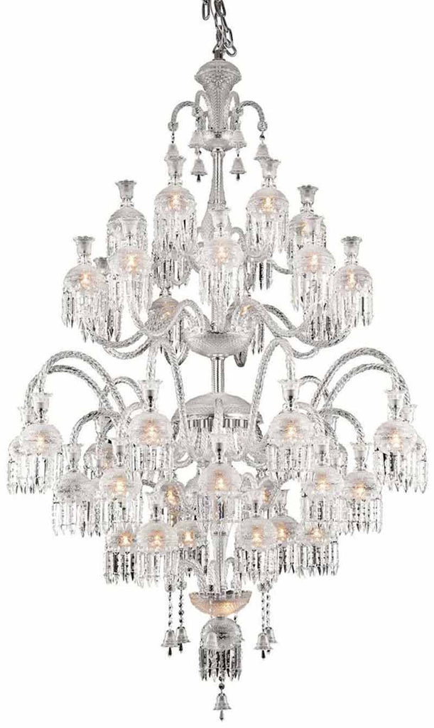 C121-8913G54C/EC By Elegant Lighting - Majestic Collection Chrome Finish 42 Lights Foyer/Hallway
