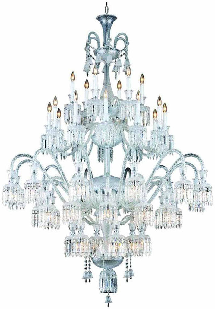C121-8948G60C/EC By Elegant Lighting - Majestic Collection Chrome Finish 48 Lights Foyer/Hallway