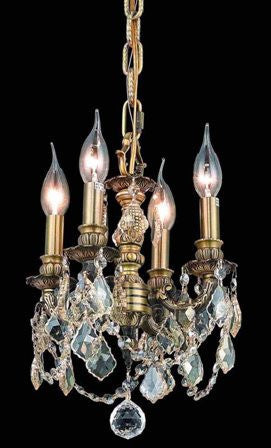 C121-9104D10AB-GS By Regency Lighting-Lille Collection Antique Bronze Finish 4 Lights Chandelier