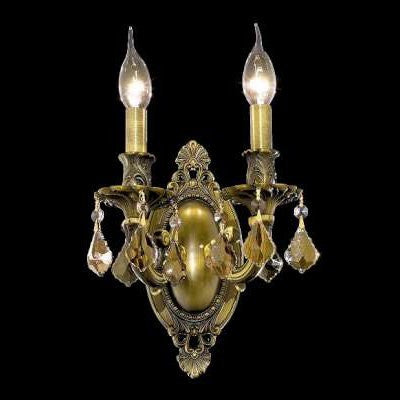C121-9202W9AB-GT By Regency Lighting-Rosalia Collection Antique Bronze Finish 2 Lights Wall Sconce
