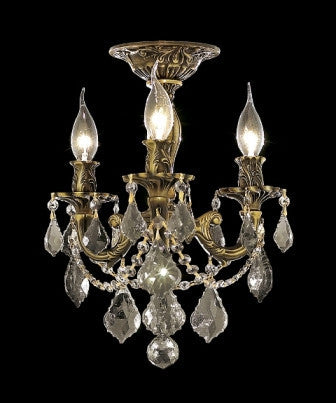 C121-9203F13AB By Regency Lighting-Rosalia Collection Antique Bronze Finish 3 Lights Chandelier