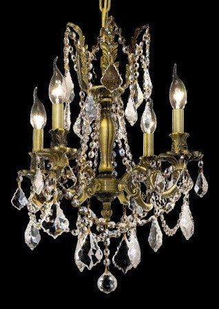 C121-9204D17AB By Regency Lighting-Rosalia Collection Antique Bronze Finish 4 Lights Chandelier