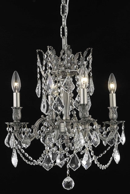 ZC121-9204D17PW/EC By Regency Lighting Rosalia Collection 4 Light Chandeliers Pewter Finish