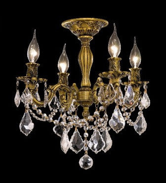 C121-9204F17FG By Regency Lighting-Rosalia Collection French Gold Finish 4 Lights Chandelier