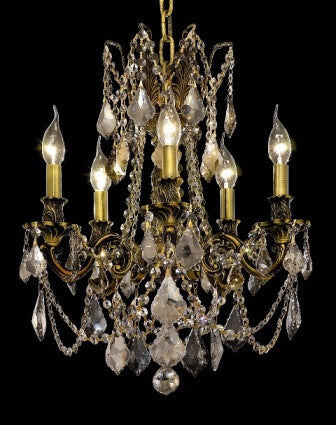 C121-9205D18AB-GT By Regency Lighting-Rosalia Collection Antique Bronze Finish 5 Lights Chandelier