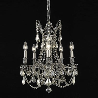 C121-9205D18DB-GT/RC By Elegant Lighting Rosalia Collection 5 Lights Chandelier Dark Bronze Finish