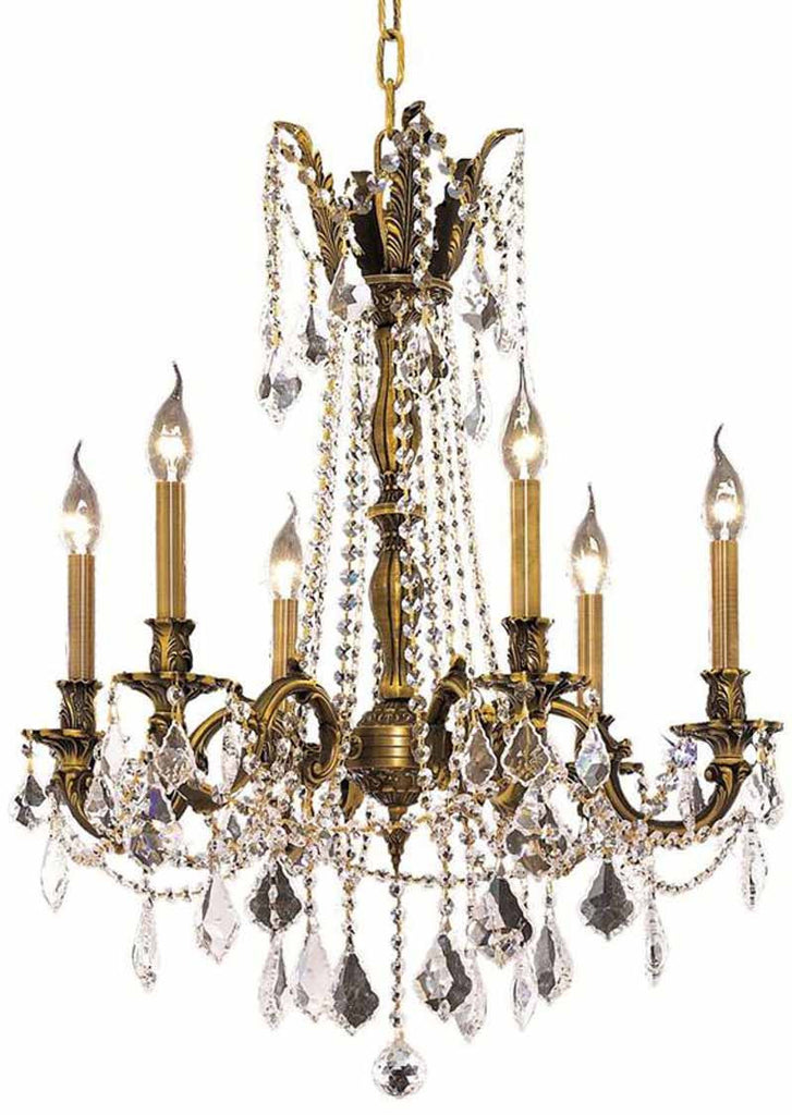 ZC121-9206D23AB/EC By Regency Lighting - Rosalia Collection Antique Bronze Finish 6 Lights Dining Room