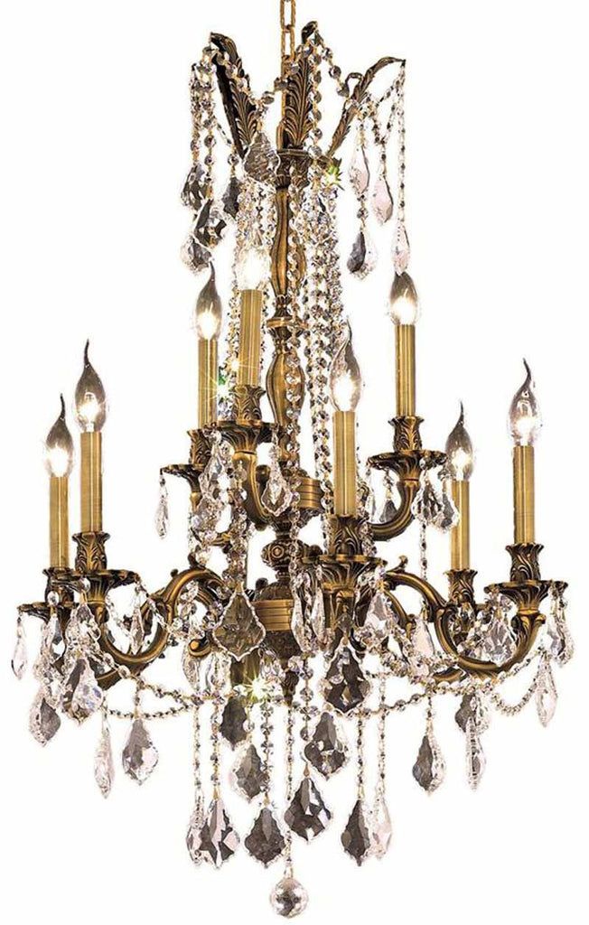 ZC121-9209D23AB/EC By Regency Lighting - Rosalia Collection Antique Bronze Finish 9 Lights Dining Room