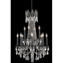 C121-9212D24DB-GT/RC By Elegant Lighting Rosalia Collection 12 Lights Chandelier Dark Bronze Finish