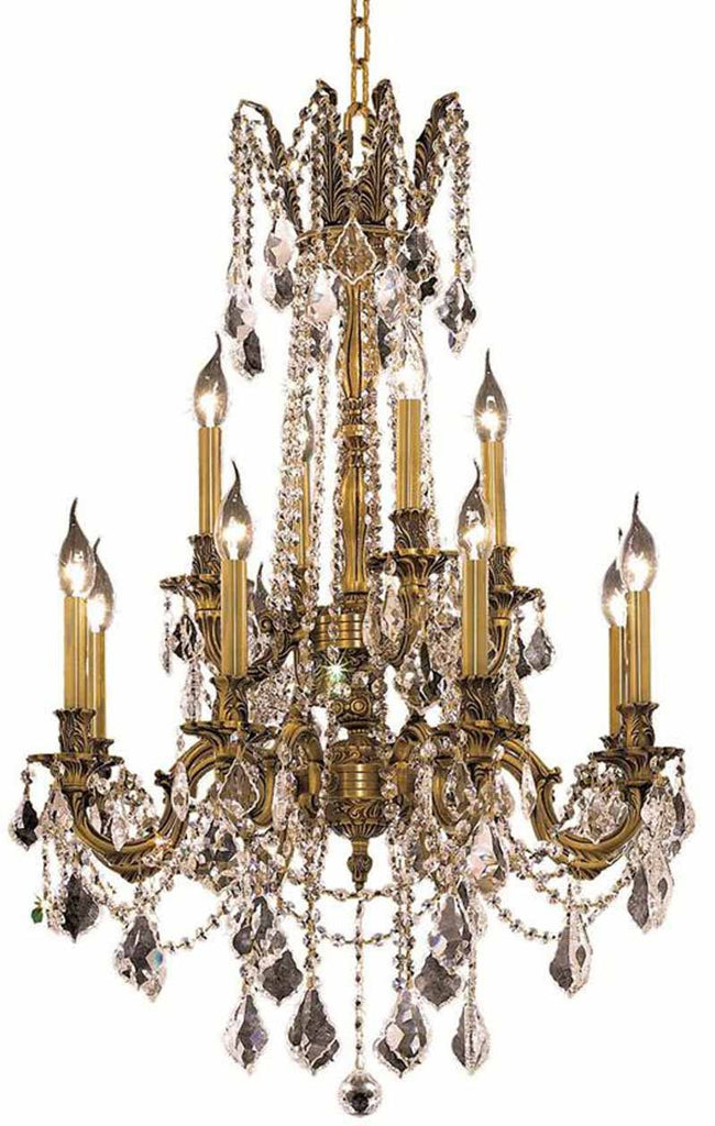 ZC121-9212D24FG/EC By Regency Lighting - Rosalia Collection French Gold Finish 12 Lights Dining Room