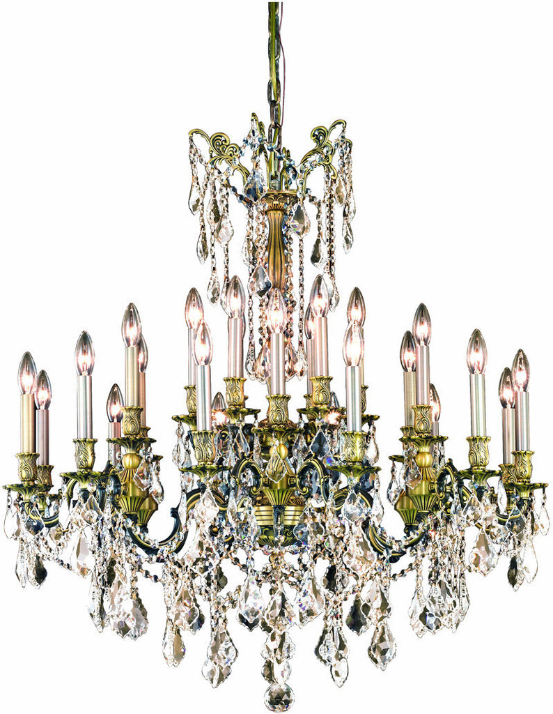 C121-9224D36AB/RC By Elegant Lighting Rosalia Collection 24 Light Dining Room Antique Bronze Finish