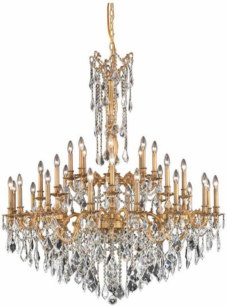 C121-9232G48FG/EC By Elegant Lighting - Rosalia Collection French Gold Finish 32 Lights Foyer/Hallway