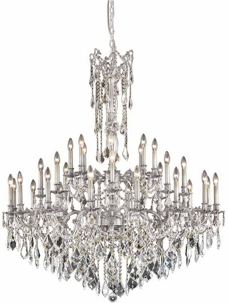 C121-9232G48PW/RC By Elegant Lighting Rosalia Collection 32 Light Foyer/Hallway Pewter Finish