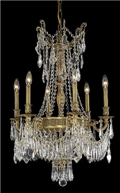 C121-9309D22FG/RC By Elegant Lighting Esperanza Collection 9 Light Chandeliers French Gold Finish