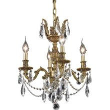 ZC121-9404D17FG/EC By Regency Lighting Marseille Collection 4 Lights Chandelier French Gold Finish