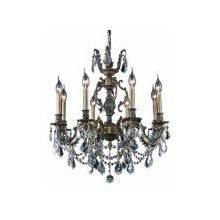 ZC121-9408D24AB/EC By Regency Lighting Marseille Collection 8 Lights Chandelier Antique Bronze Finish