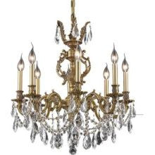 ZC121-9408D24FG/EC By Regency Lighting Marseille Collection 8 Lights Chandelier French Gold Finish