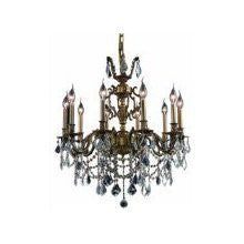 C121-9410D28AB/RC By Elegant Lighting Marseille Collection 10 Lights Chandelier Antique Bronze Finish