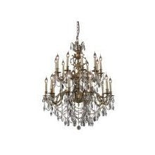 C121-9420G36AB/RC By Elegant Lighting Marseille Collection 20 Lights Chandelier Antique Bronze Finish