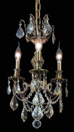 C121-9503D13AB-GS By Regency Lighting-Marseille Collection Antique Bronze Finish 3 Lights Chandelier