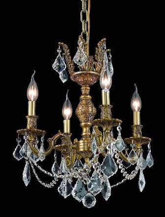 C121-9504D17FG By Regency Lighting-Marseille Collection French Gold Finish 4 Lights Chandelier