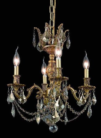 C121-9504D17FG-GT By Regency Lighting-Marseille Collection Antique Bronze Finish 4 Lights Chandelier