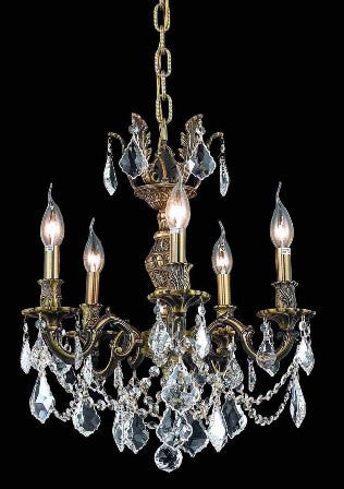 C121-9505D18AB By Regency Lighting-Marseille Collection Antique Bronze Finish 5 Lights Chandelier