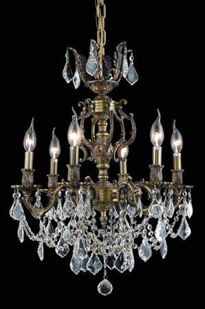 C121-9506D20AB-GS By Regency Lighting-Marseille Collection Antique Bronze Finish 6 Lights Chandelier