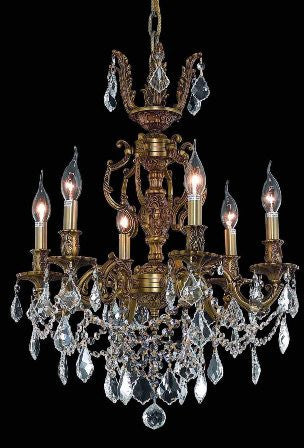 C121-9506D20FG By Regency Lighting-Marseille Collection French Gold Finish 6 Lights Chandelier