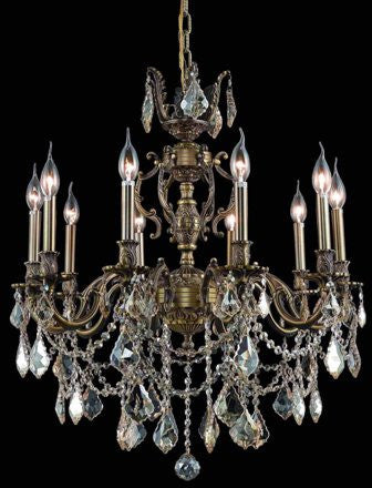 C121-9510D21AB-GS By Regency Lighting-Marseille Collection Antique Bronze Finish 10 Lights Chandelier