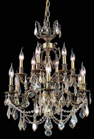 C121-9512D24AB-GS By Regency Lighting-Marseille Collection Antique Bronze Finish 12 Lights Chandelier